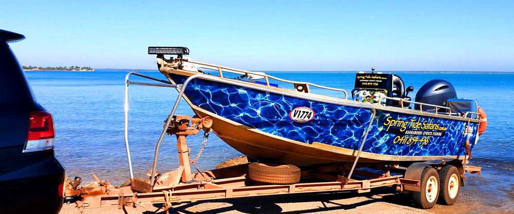 Spring Tide Safaris Toyota Landcruiser fishing launch